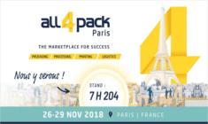Venez-nous rencontrez à All4Pack 2018