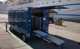 Inspection trailers for the tourism port of Nice