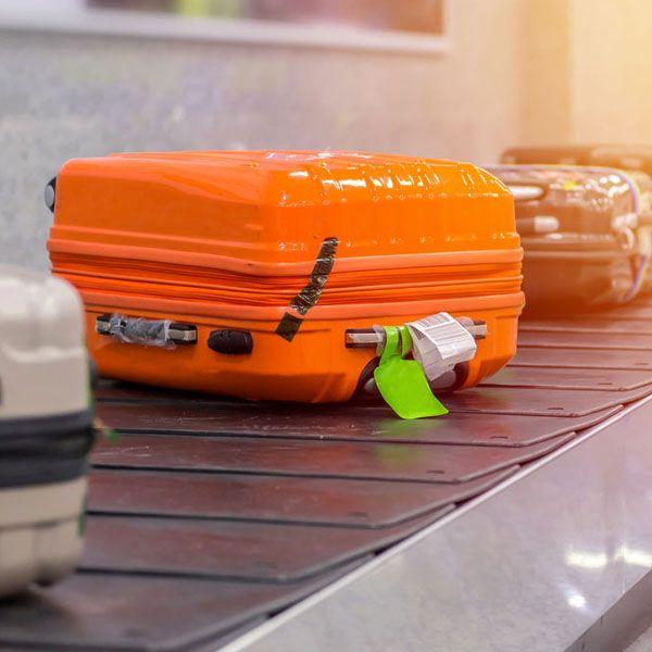 Inspection des bagages de soute