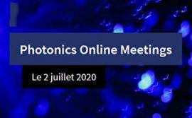 RDV au Photonics Online Meetings le 02 juillet !