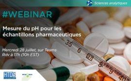 WEBINAR : mesure du pH des échantillons pharmaceutiques
